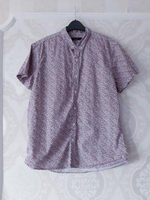 Размер М/l Стильная фирменная хлопковая мужская рубашка