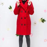 пальто демисезонное для девочки VKD-7 на рост 122-152