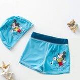 Комплект c UPF 50 плавки и шапочка для плавания Микки Маус, Disney