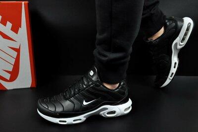 мужские кроссовки кроссовки NIKE Air Max Tn 41-46р черные с белым