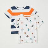 яркие новые футболки 2 до 8 лет H&M большой выбор одежды