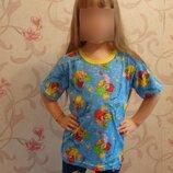 хлопковые футболки 104-122
