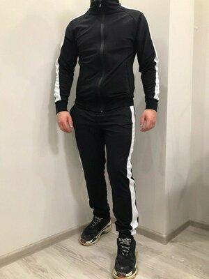 Спортивный костюм DNK черный с белыми лампасами