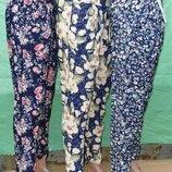 Женские брючки c карманами, норма, батал, 42-54 размер. Тоненькие и легкие.