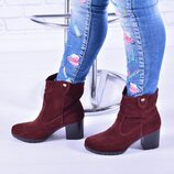 Стильные женские ботинки, натур. замша, деми