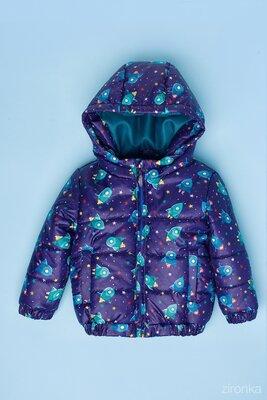 Курточка для мальчика с принтом демисезонная р.98,104.
