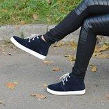 Весенние ботинки, натур.замша