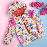 Курточка для девочки с цветочным принтом демисезонная Новинка 2019