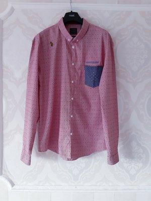 Размер L Стильная брендовая хлопковая мужская рубашка