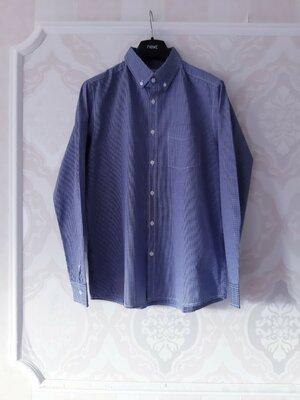 Размер М Красивая фирменная хлопковая мужская рубашка