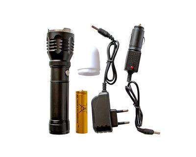 Ручной фонарь с белой насадкой для ориентации транспорта в темноте/аварийных ситуаций/3 режима