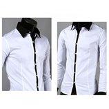 Рубашка мужская белая черная