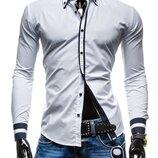 Рубашка мужская белая классическая