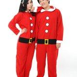 Санта кигуруми 44 слип пижама человечек Рождество