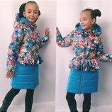 Пальто для девочки на синтепоне,РАЗМЕР 122 128 134.