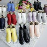 Хит 2019 Натуральные кожаные демисезонные ботинки слипоны Новые цвета 32,33,34,35,36,37,38,39,40,41
