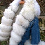 Джинсовая куртка с мехом на маленькую принцессу