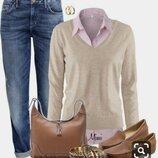 Кашемировый свитер, джемпер F&F.