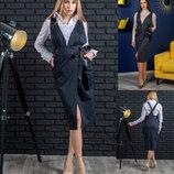 Стильная новинка от производителя платье-сарафан Меган 2 цвета