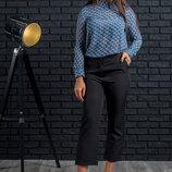 Укороченные женские брюки-кюлоты 2 цвета Браво