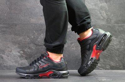Nike Air Max TN кроссовки мужские демисезонные т.синие с красным 7217
