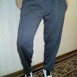 Спортивные штаны женские,темно серые теплые на флисе