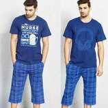Пижама мужская футболка и капри 1XL-4xl