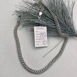мужская черненая серебряная цепь цепочка, чоловічий срібний чорнений ланцюжок