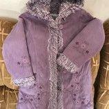 Пальто с вышивкой, next, 5-7 лет