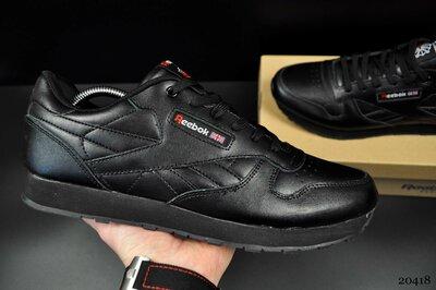 мужские кроссовки Reebok classic великаны 46-48р черные