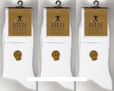Носки мужские демисезонные 100% х/б Milano Club Exclusive,12 пар.Турция. 41-45 р, белые