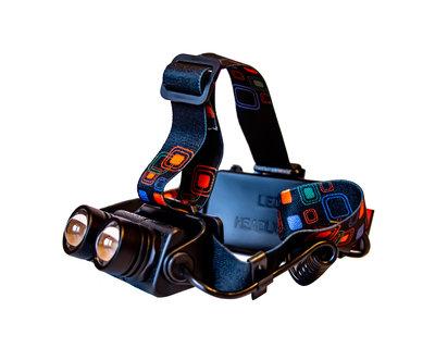 Фонарик налобный/2 режима/яркий луч/светодиод T6/на 5 метров/зум фокусировка луча