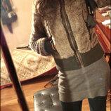 Бомбезная плюшевая меховая куртка полушубок шуба Zara