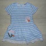 Котоновое платье Geoprge 3-4 года