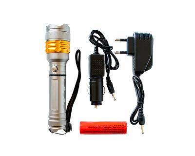 Ручной светодиодный фонарь для туристических походов/1 режим/Cree T6/яркий фонарик