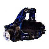 Налобный фонарь Q19/3 режима/светодиод T6/5 метров/зум фокусировка