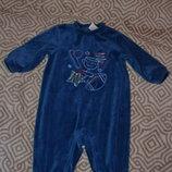 бархатный слип пижама человечек Circo 3-6 мес рост 62-68 Сша