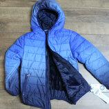 Теплая демисезонная куртка для мальчиков синтепон- мех