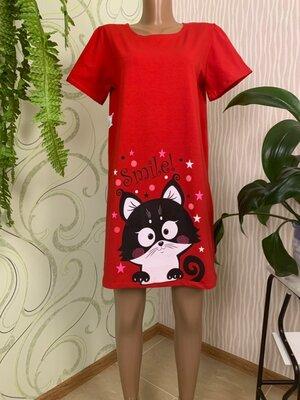 Комплект мама дочка фемели лук трикотажных платьев туник