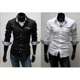 Классическая мужская рубашка три цвета
