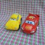 Машинка мягкая маленькая Молния Маквин и Круз Рамирез из мф Тачки, длина 15см