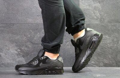 Nike Air Max TN кроссовки мужские демисезонные черные 7221