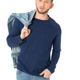 Cиний мужской свитер LC Waikiki / Лс Вайкики с фактурной передней планкой