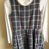 Шикарный школьный сарафан или платье на 146 см