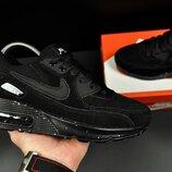 Кроссовки Nike Air Max черные замш