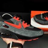 Кроссовки Nike Air Max серый с красным
