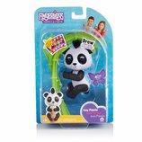 WowWee Fingerlings Glitter Panda Интерактивная панда на палец блестящая черная