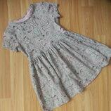 Фирменное платье f&f малышке 3-4 года cостояние отличное