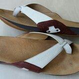 Кожаные шлепки Clarks,37 размер,Вьетнам.