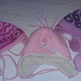 Зимние теплые шапки для девочки, Ог до 48-50 см